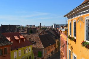 Buildings in the Old Town of Sibiu